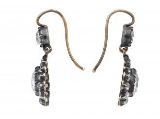 Victorian diamond drop earrings hatton garden