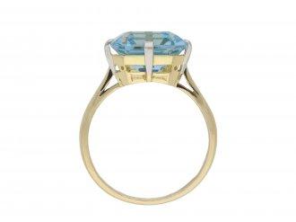 Aquamarine solitaire ring hatton garden