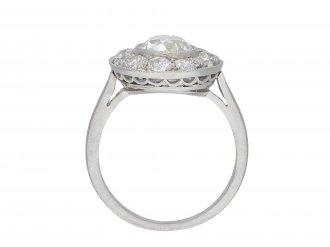 Art Deco diamond coronet cluster ring hatton garden