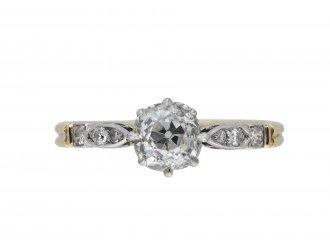 Edwardian old mine diamond ring hatton garden