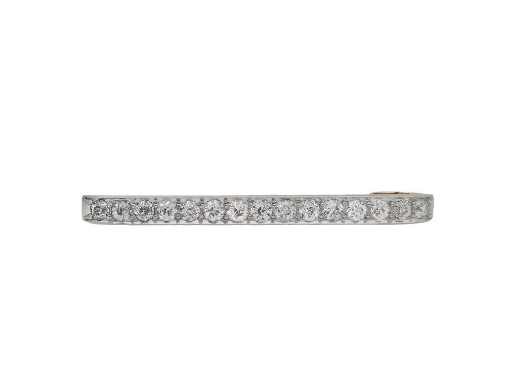 Edwardian diamond bar brooch hatton garden