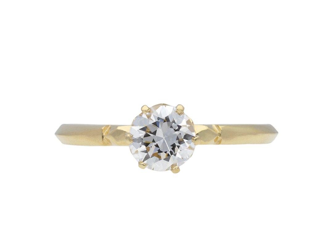 Victorian diamond solitaire engagement ring hatton garden