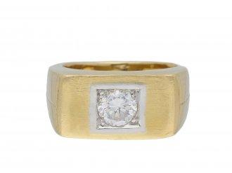 Vintage diamond solitaire ring hatton garden