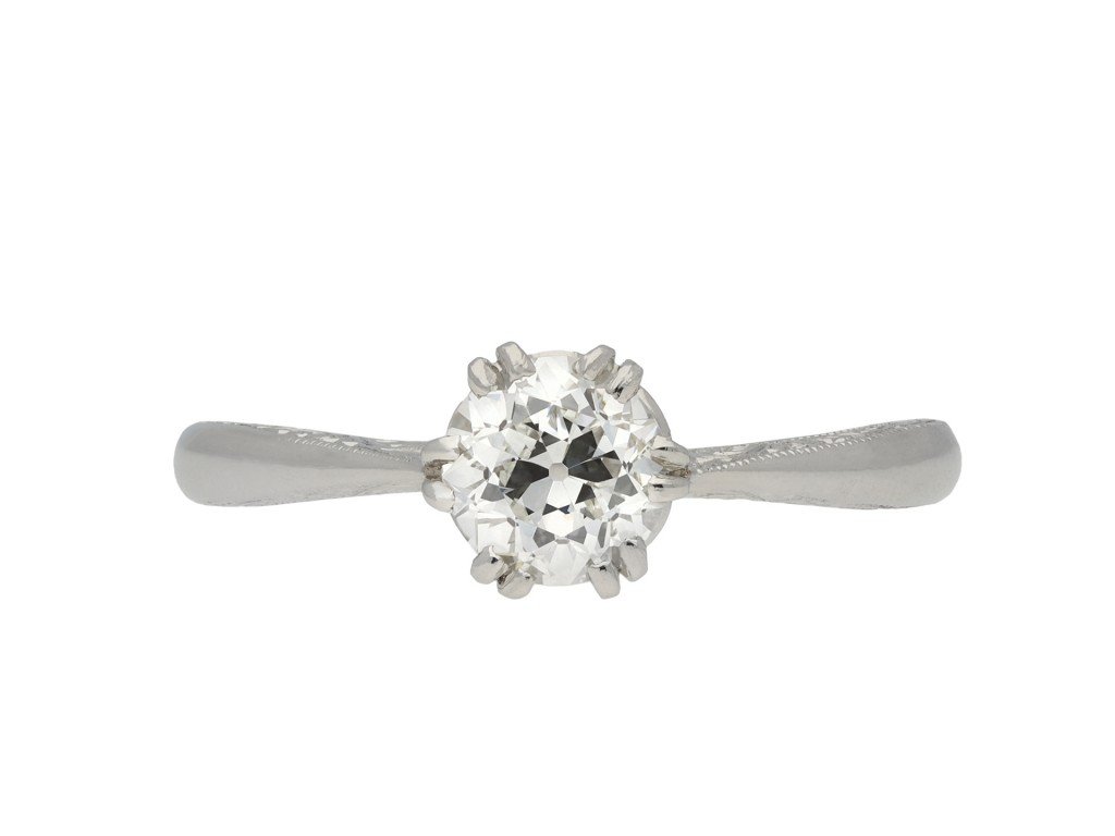 Edwardian diamond solitaire ring hatton garden