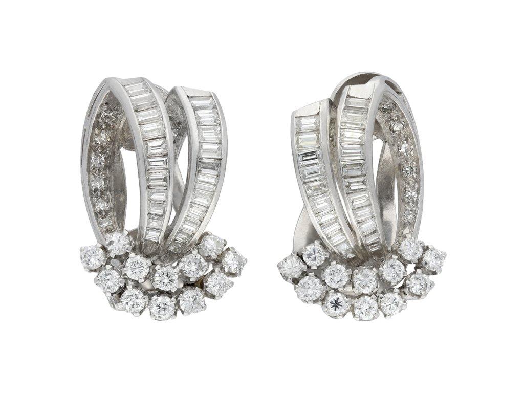 Vintage diamond earrings hatton garden