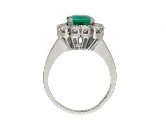 Vintage Colombian emerald diamond cluster ring hatton garden