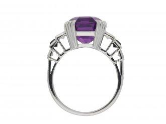 Art Deco amethyst diamond onyx ring hatton garden