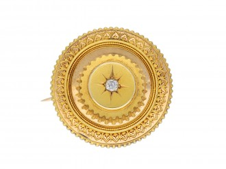 Victorian diamond set brooch and earring suite hatton garden
