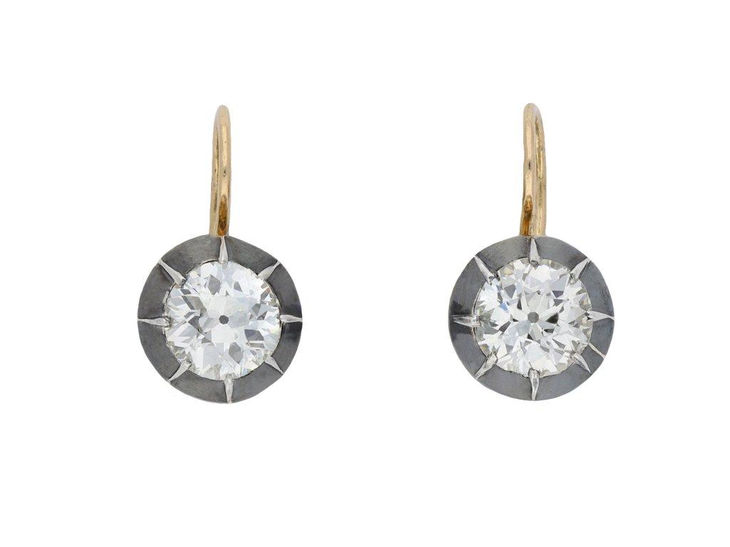 Victorian diamond earrings hatton garden
