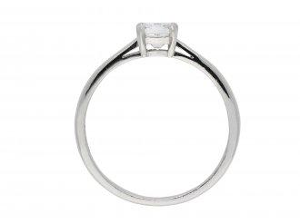 Emerald cut diamond solitaire ring hatton garden
