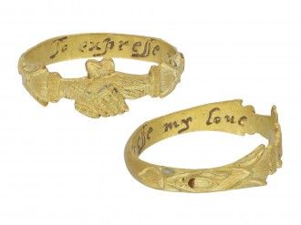 Post Medieval fede ring with posy hatton garden