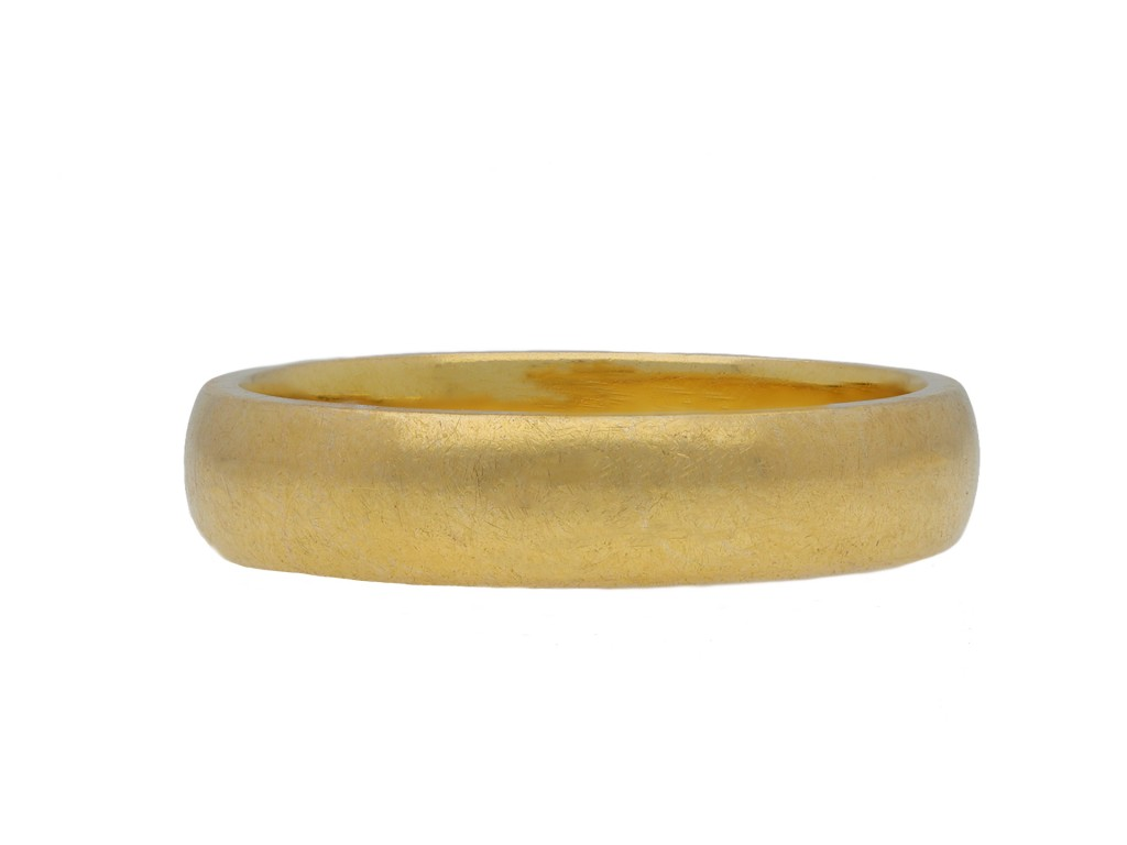 Yellow gold wedding band, English hatton garden