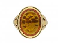 Citrine signet ring hatton garden