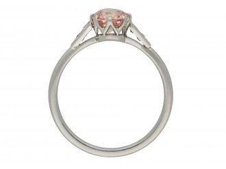 Padparadsha sapphire and diamond ring hatton garden