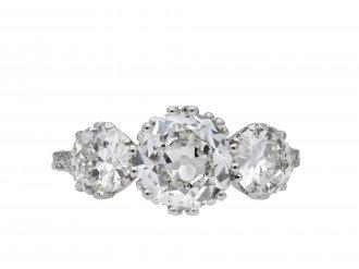 Old cut diamond three stone ring hatton garden