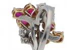Chaumet Burmese ruby and diamond cluster ring hatton garden