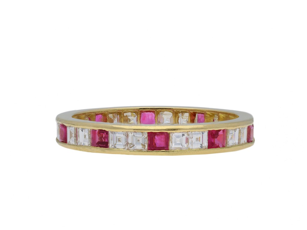 Ruby and diamond full eternity ring hatton garden