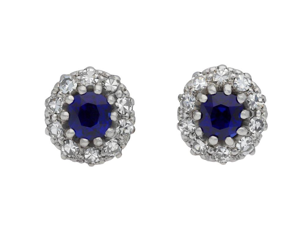 Sapphire and diamond cluster earrings hatton garden