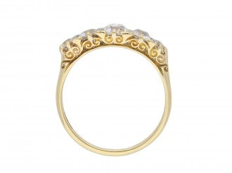 Victorian five stone diamond ring hatton garden