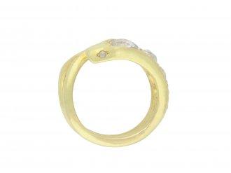 Victorian diamond set snake ring hatton garden