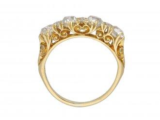 Victorian diamond four stone ring hatton garden
