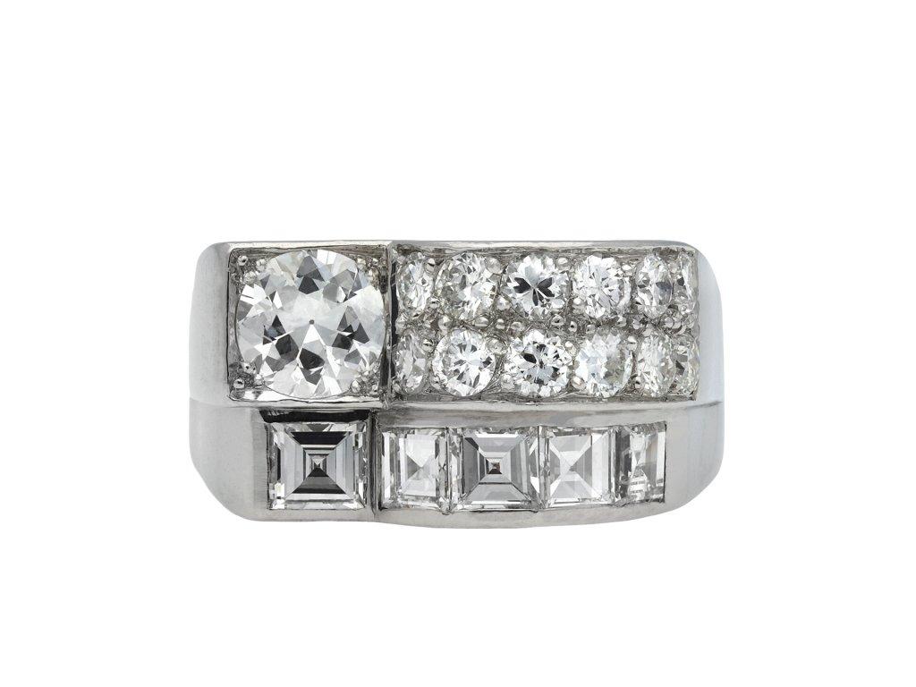 Art Deco diamond cocktail ring hatton garden