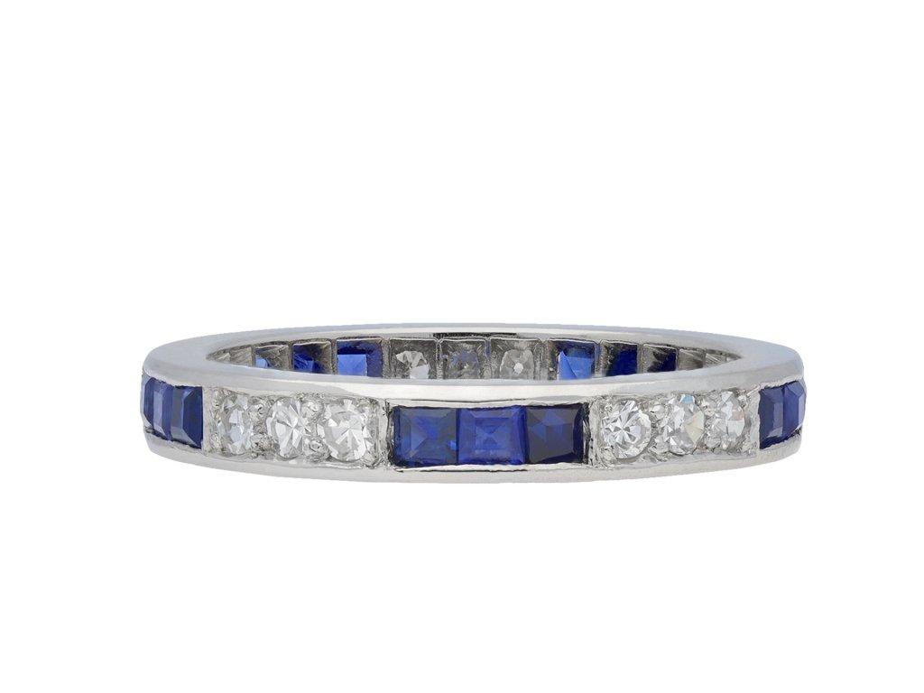 Art Deco sapphire and diamond eternity ring hatton garden