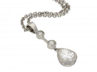 Edwardian Diamond drop pendant hatton garden