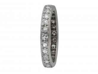Art Deco diamond full eternity band hatton garden