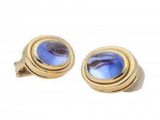 Bulgari Ceylon sapphire earrings hatton garden