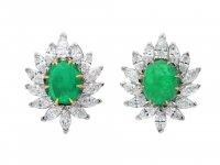 Vintage Colombian emerald diamond earrings hatton garden