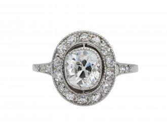 Edwardian old mine diamond coronet cluster ring hatton garden