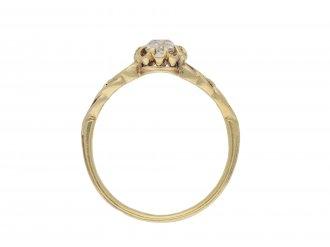 Belle Époque diamond solitaire ring hatton garden