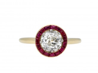 Belle Époque ruby and diamond target ring hatton garden