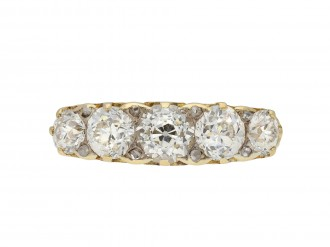 Victorian diamond five stone ring hatton garden