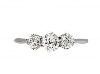 Edwardian diamond three stone ring hatton garden