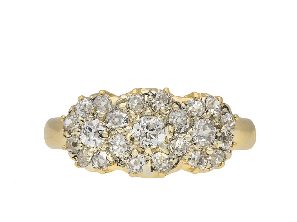 Victorian Diamond Cluster Ring hatton garden