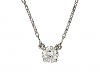 Diamond solitaire pendant hatton garden