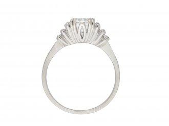 Vintage Diamond flanked solitaire ring hatton garden