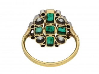 Victorian emerald and diamond cluster ring hatton garden