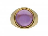 Amethyst Solitaire Dress Ring hatton garden
