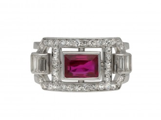 Mauboussin Burmese ruby and diamond ring hatton garden