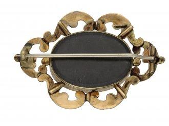 Victorian gold mourning brooch berganza hatton garden