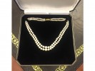 Double row cultured pearl necklace berganza hatton garden