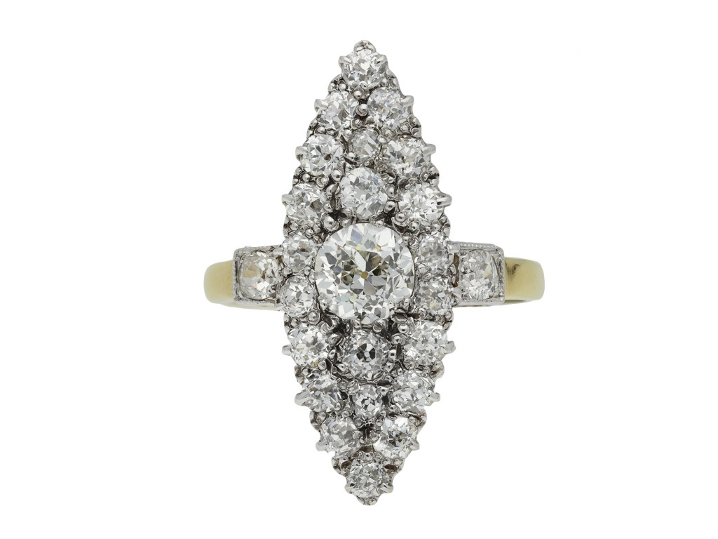 Victorian diamond cluster ring hatton garden