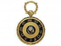 Gold and enamel memorial pendant berganza hatton garden