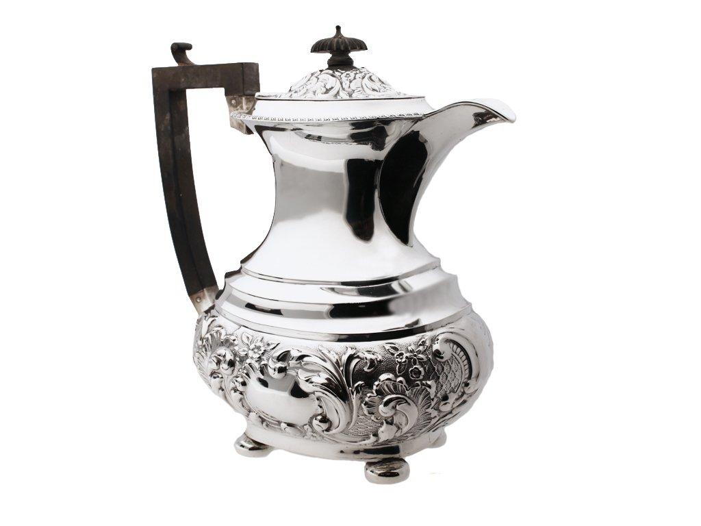 Sterling silver coffee pot, circa 1909.