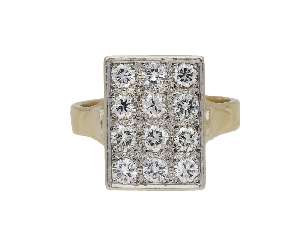 Vintage diamond cluster ring hatton garden