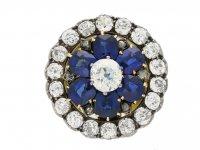 Antique Sapphire Diamond ring/pendant berganza hatton garden
