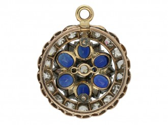 Antique Sapphire Diamond ring/pendant berganza hatton garden